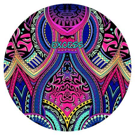 Плажна Кърпа EXCESSWEAR Colorful Maori 150х150см 520085 Colorful Maori