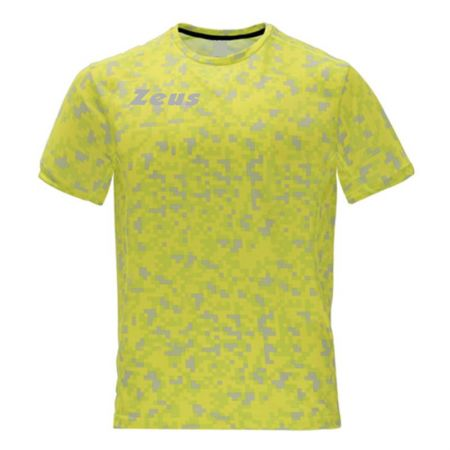 Мъжка Тениска ZEUS T-Shirt Pixel Giallo Fluo 518638 T-Shirt Pixel