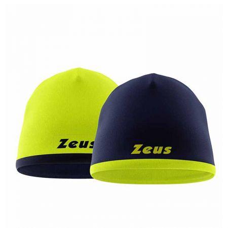 Двулицева Зимна Шапка ZEUS Reversible Zuccotto Bikolor Blu/Giallo fluo 518321 Zuccotto Bikolor